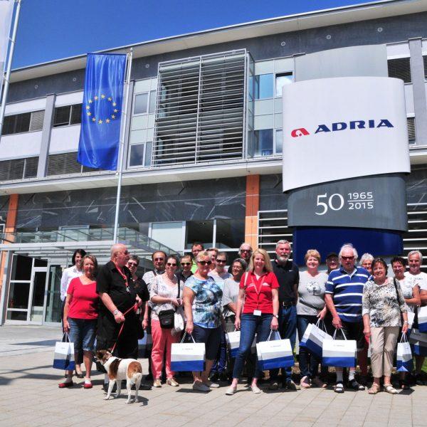 Kundenfahrt zu ADRIA Mobil und Ausflugsprogramm