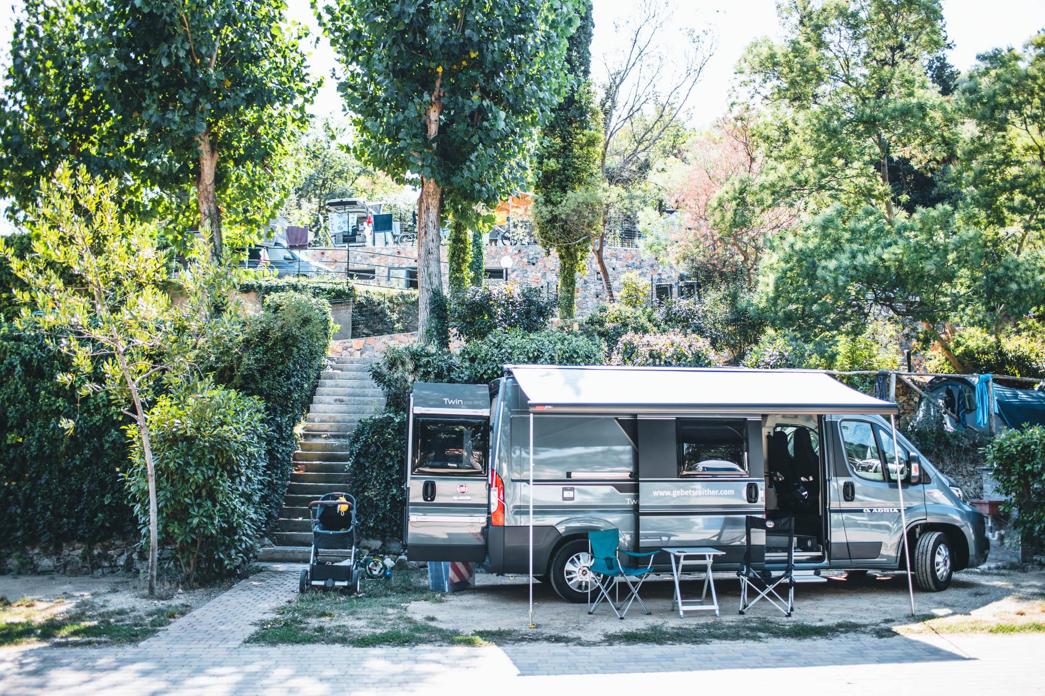 Stellplatz für Campingbus