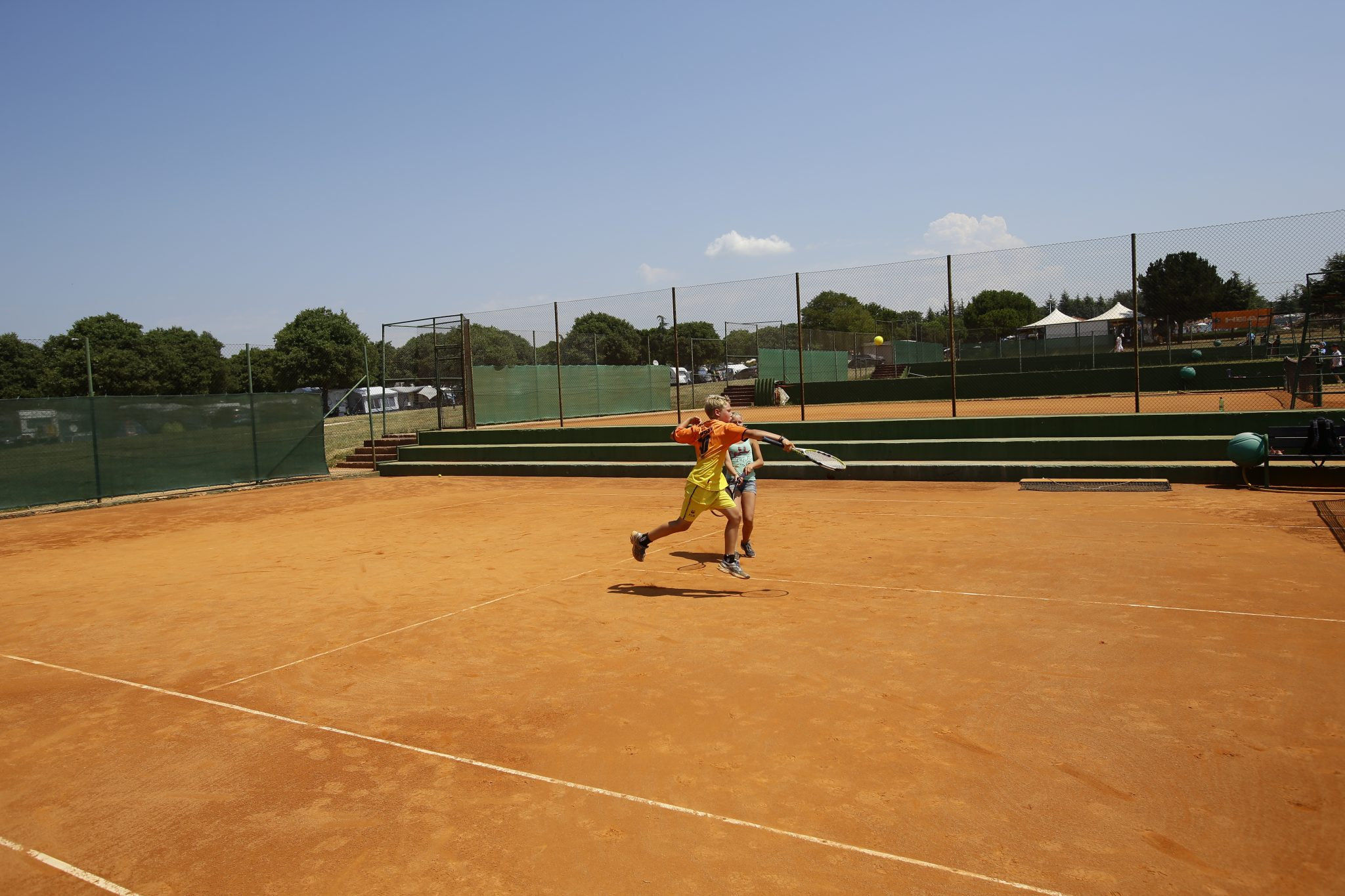 Tennisplätze auf Camping Umag