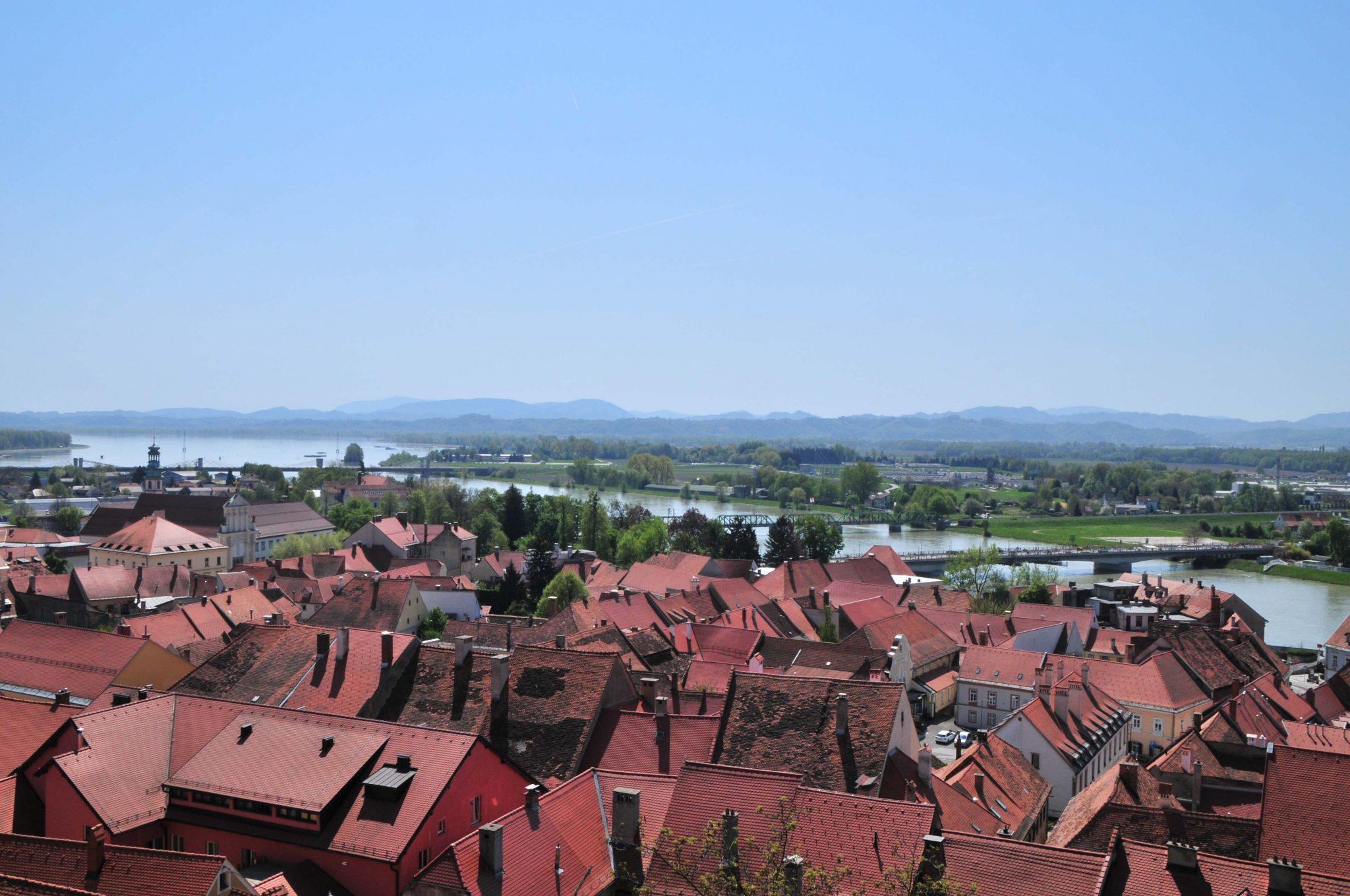 Ausblick von der Burg auf Ptuj