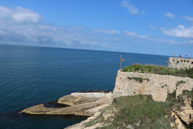 Die alten Festungsmauern von Ulcinj.