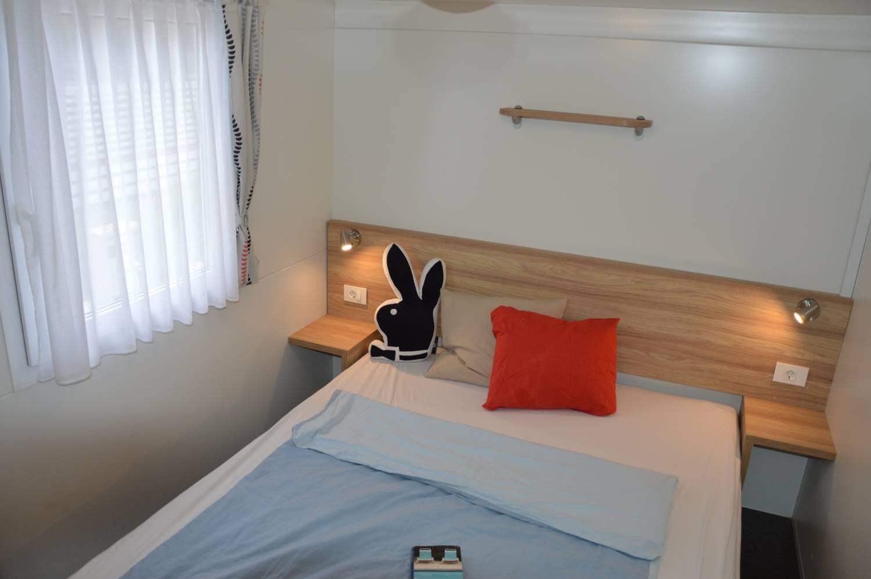 Mobilheim Schlafzimmer im Camp Adriatic.