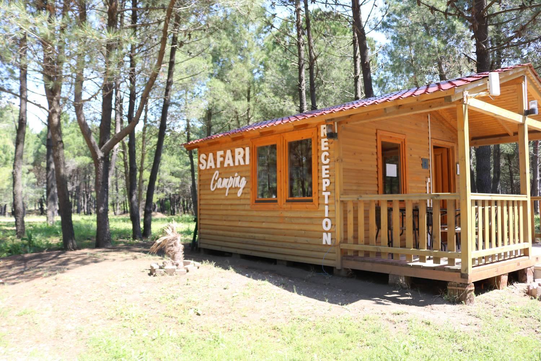 Einfahrt zum Safari Beach Camp in Ulcinj.