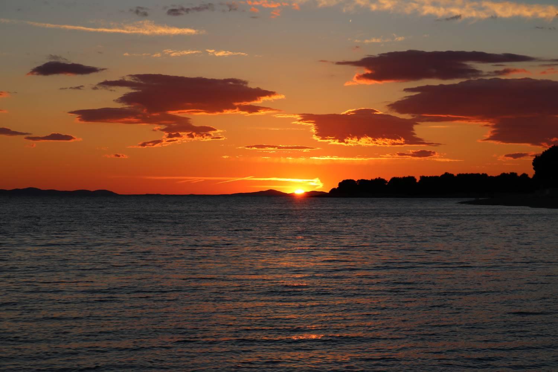 Wunderschöner Sonnenuntergang in Kroatien.