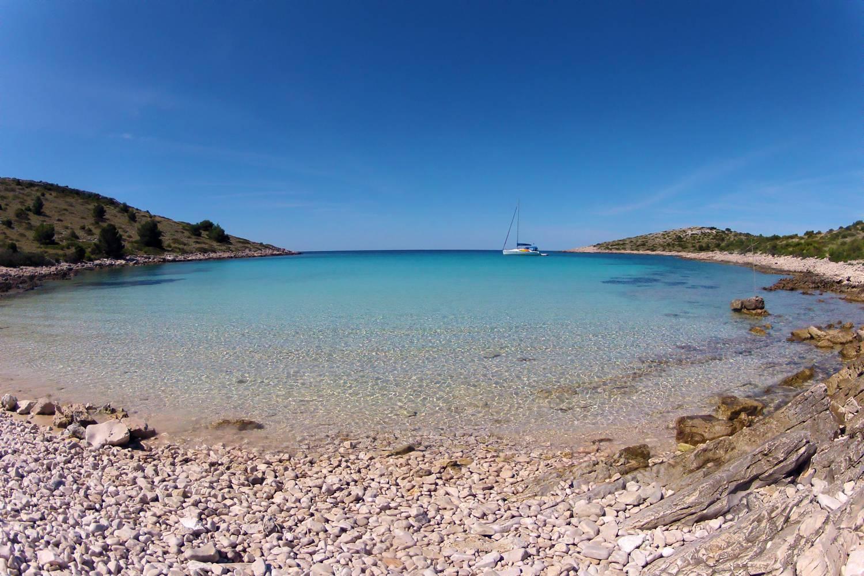 Dugi Otok vor der Küste Dalmatiens.