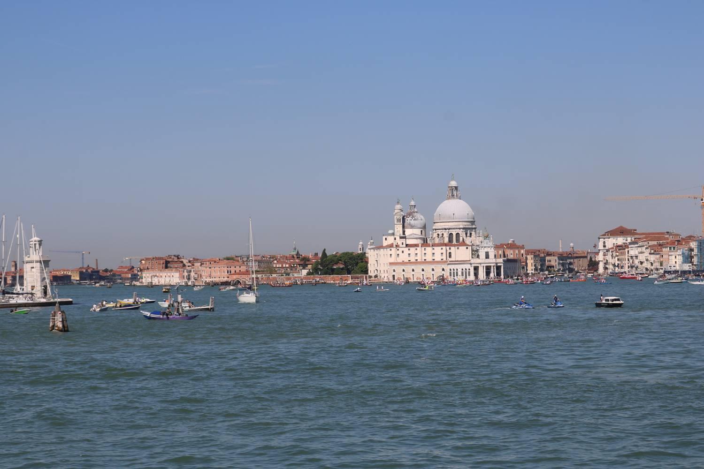 Die berühmte Silhouette von Venedig.