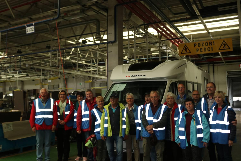 Interessanter Rundgang durch die Herstellung der Adria Wohnwagen und Wohnmobile.