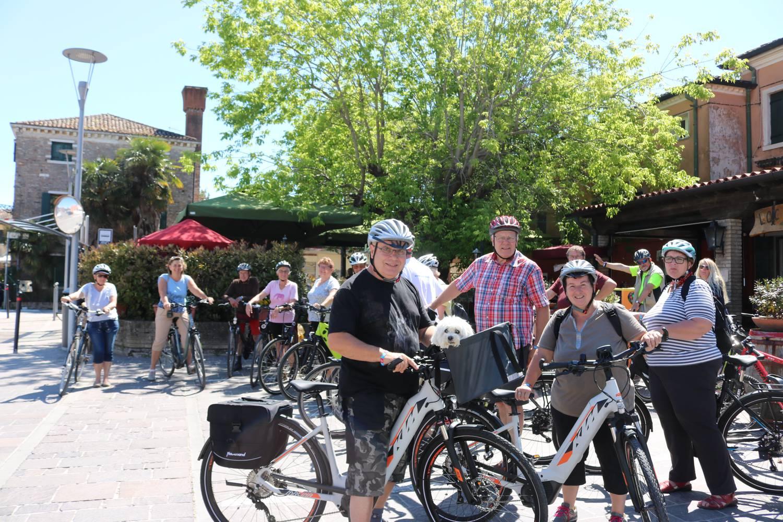 Start der Radtour vor dem Ristorante Tanella.
