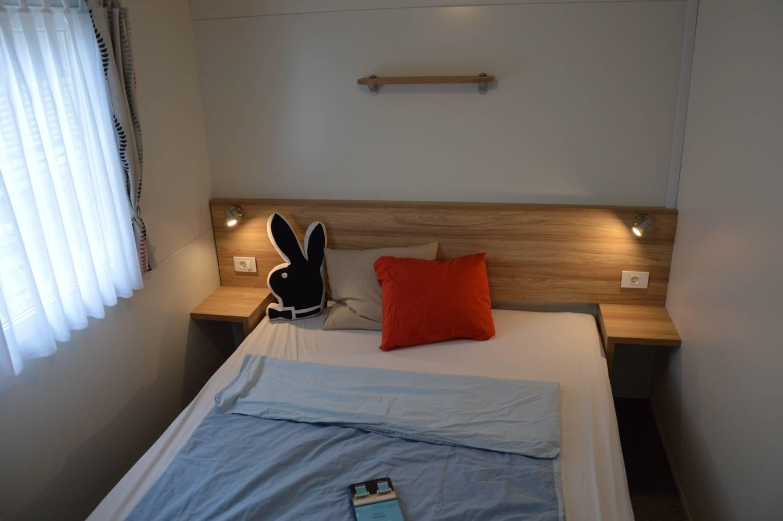 Das Doppelzimmer im Mobilheim.