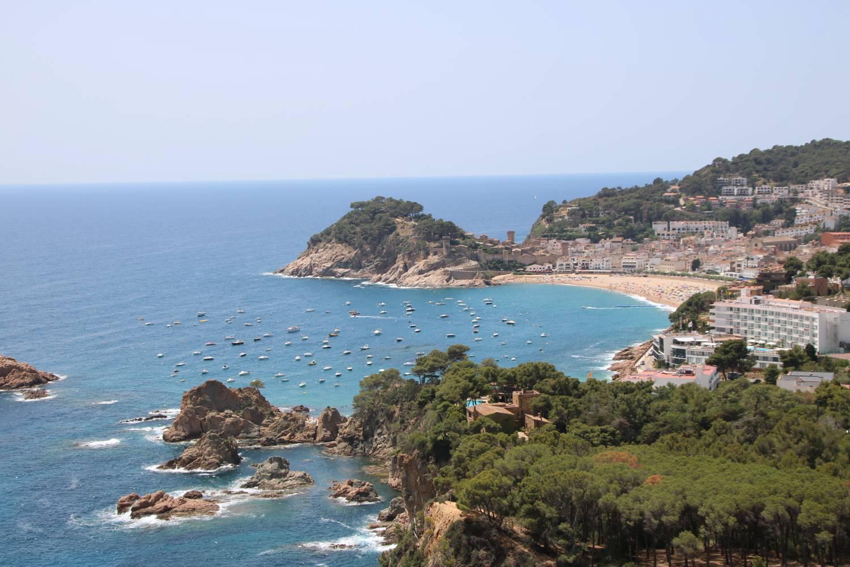 Das Ziel der Küstenfahrt Tossa de Mar.