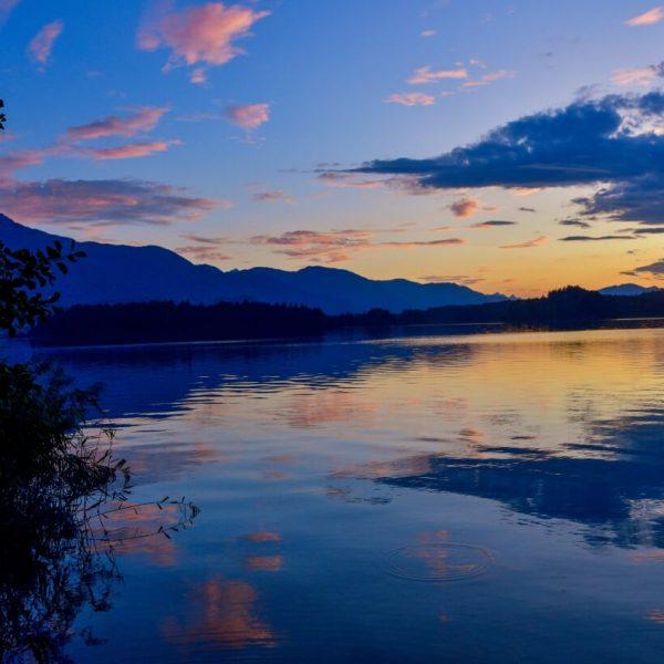 Faaker-See-Kaernten-Camping-Poglitsch-Gebetsroither-Urlaub-Sonnenuntergang