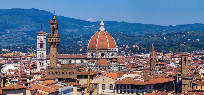 Blick über Florenz.