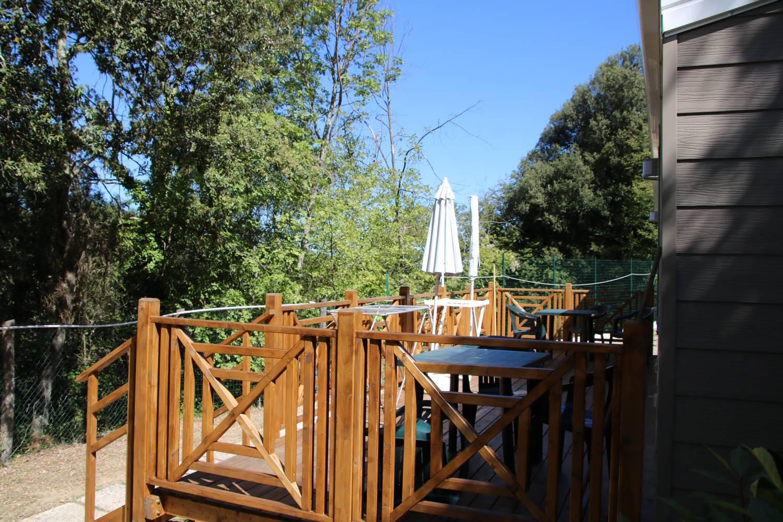 Wohnen mit Terrassenblick in die toskanischen Hügel.
