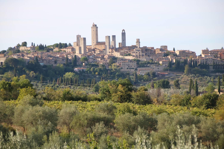 Die Skyline von San Gimignano.