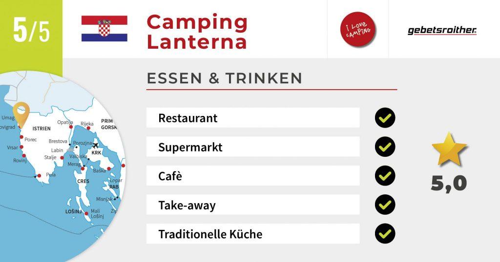 2020 FB_Lanterna_Essen und Trinken-Bewertung-Urlaubschecker-Kroatien-Camping-Gebetsroither